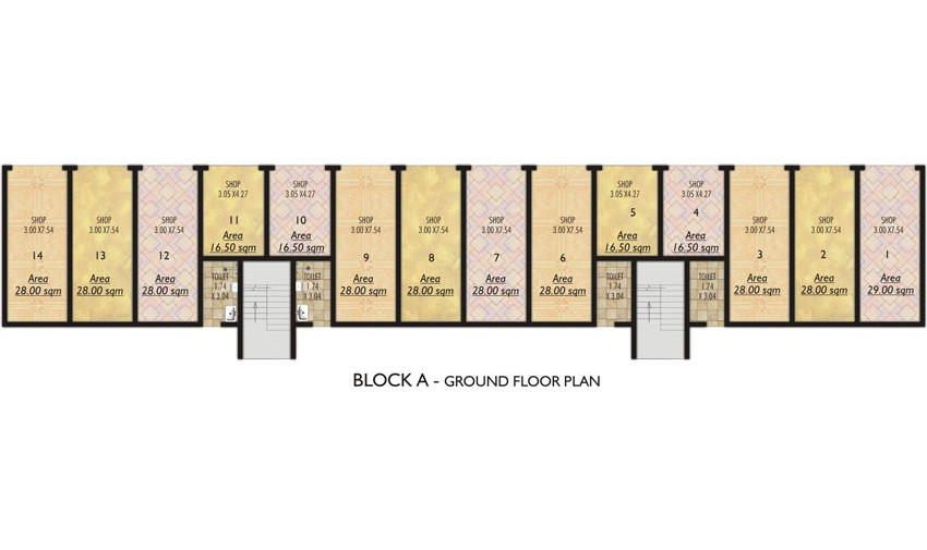 BLOCK A - Ground Floor plan