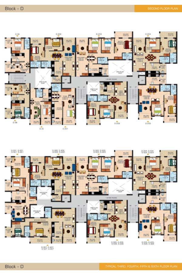 Block D Second Floor Plan